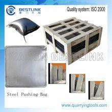 Bolsa de empuje de bloques de mármol de acero para extracción