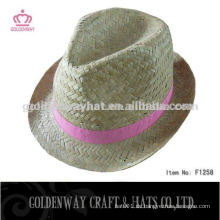 Kundenspezifische billige Stroh Fedora Hüte