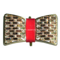 Fashion Metal Bowknot Buckle with Crystal Glass Interspersed