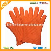 Hochwertiger preiswerter kundenspezifischer hitzebeständiger Silikon-Küche-Finger-Ofen u. Grill-Handschuh / Silikon-Grill-Ofen BBQ-Handschuh / Ofen Mitt