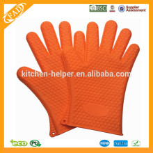 High Quality Cheap Custom Heat Resistant Silicone Kitchen Finger Oven & Barbecue Glove/Silicone Grill Oven BBQ Glove/Oven Mitt