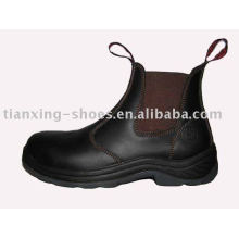elastic sided safety boots