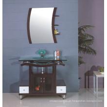 Armário de banheiro de pia de vidro (B-607)