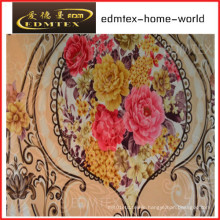100% Polyester Knitted Fabric Printing Velvet Curtain Fabric (EDM0450)
