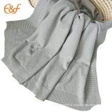 Tricot de couverture de lit doux de couleur de sucrerie de vente chaude