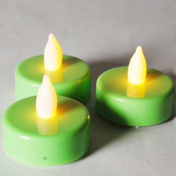 Birthday decoration flameless tealight candle