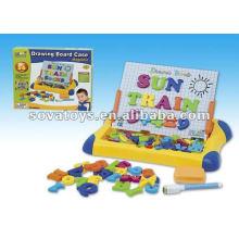 Crianças, escrita, tábua, alfabeto, número