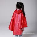Reflective Rouge Noir Enfant Sécurité Poncho imperméable avec motif de point pour garçon garçon Rainwear