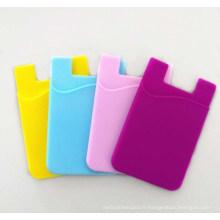 Porte-cartes de crédit en silicone cadeau promotionnel pour téléphone