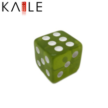 15mm Cheap Straight Corner Green with White Dots Dice