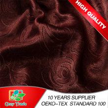 Faux Seda, Luxurious 100% Blackout Cortina Tecido Plain, Emboss, Impressão