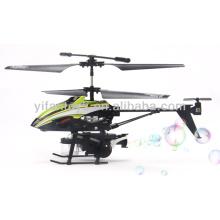 Os melhores presentes do dia de Childrens 3,5 canal metal rc helicóptero com função de sopro de bolha