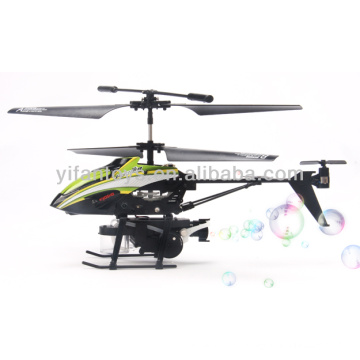 The best Childrens day gifts 3.5 channel metal rc helicopter with bubble blowing function