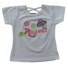 Мода девушка детская одежда Футболка с вышивать Сгт-033