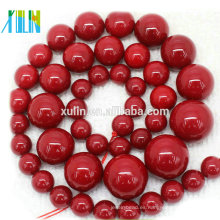 Perlas de agua dulce de concha roja natural de grado AAA