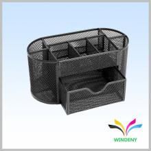 Черный сетки Канцелярские стол опрятным Организатор 5 Отсек для хранения и 1 ящиком