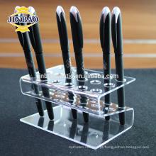 Jinbao personalizar crystal clear acrílico caneta rack de peneirador 3mm MOQ preço