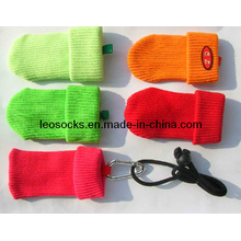 OEM Customized Fashion Good Quality Mobile Phone Sock with Lanyard