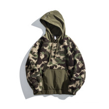 Foreign trade new winter fleece can be customized retro popular street style pullover hoodie