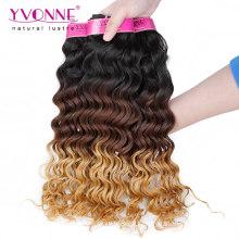 Cheveux péruviens de qualité supérieure Ombre Extension de cheveux humains