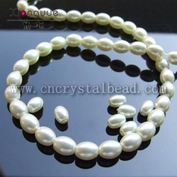 wholesale false oval Glass Pearls