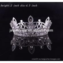 Las coronas y las tiaras al por mayor del desfile de las muchachas redondas llenas del pelo al por mayor para la venta