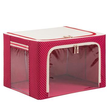 Home Nylon Waterproof Storage Bag Red Folding Storage Box