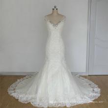 Dernières robes de mariée Alibaba Robes de mariée en dentelle blanche élégante et perlée en dentelle robe de soirée Robes de soirée avec manteau à manches LW253A