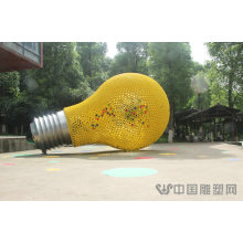 Large Modern Abstract Arts Stainless steel304 Light Bulb Sculpture for Garden decoration