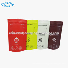 Custom printed Whey Protein Aluminum Foil Zipper Plastic Bags