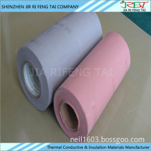 Thermal conductive electrical insulation silicone coated fiberglass cloth