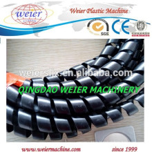 delivery to Italy of PE PP spiral protective pipe machine