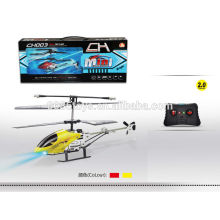 Cheap & hot item! 20cm infrared alloy matel with light 2 channel rc helicopter
