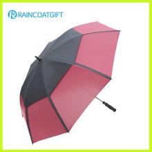 Paraguas recto a prueba de viento del golf del toldo doble de 30inch