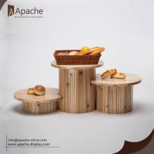 China Factories for Wooden Display Shelf Multi-Functional Round Supermarket Design Counter Display supply to Netherlands Exporter