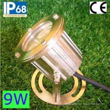 Proyector subacuático de IP68 9W LED, luz de la piscina del LED