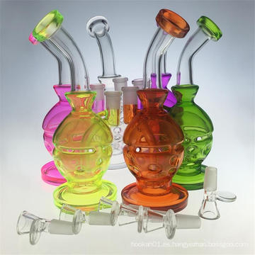 "El ""Colorship"" Mothership inspirado Tubo de agua de fumar de vidrio de Fabergé (ES-GB-420)"