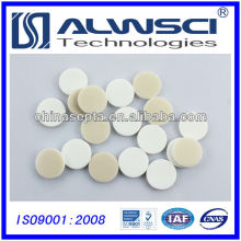 Agilent Quality20mm Bege PTFE branco Silicone Septa para Crimp Headspace Vial