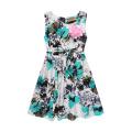 2017 Beautiful Flower Printed Dress Design Girl Fancy Frocks