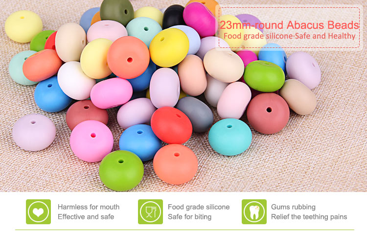 Silicone Abacus Beads