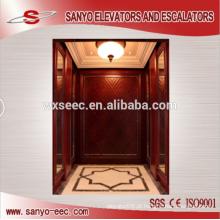 Madeira de elevador de elevador de passageiro de teca