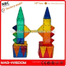 Playmags Nuevo Bloques magnéticos de azulejos de construcción Magna Tiles 100pcs