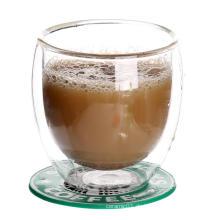 Glas Tassen Kaffee Gläser hitzebeständig ummauerten Doppelbecher