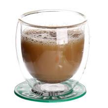 Tasses en verre doubles paroi pour expresso
