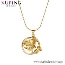 44708 xuping bijoux en alliage de cuivre papillon forme de fleur collier cadeau pour les femmes