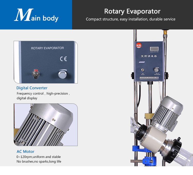Rotary Evaporator Steam Vacuum Distillation with Chiller