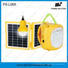 Linterna solar calificada 4500mAh / 6V con el cargador del teléfono móvil con la bombilla solar para la habitación