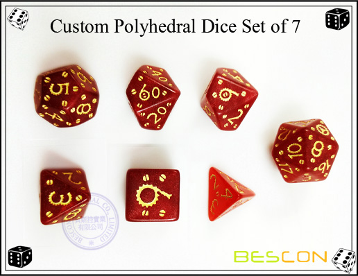 Custom Engraved Polyhedral 12 Sided Dice China Manufacturer