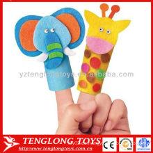 Bebé preescolar juguete bosque animal dedo títere