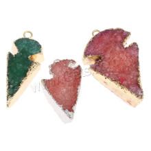 Gets.com mixed colored agate arrowhead pendant